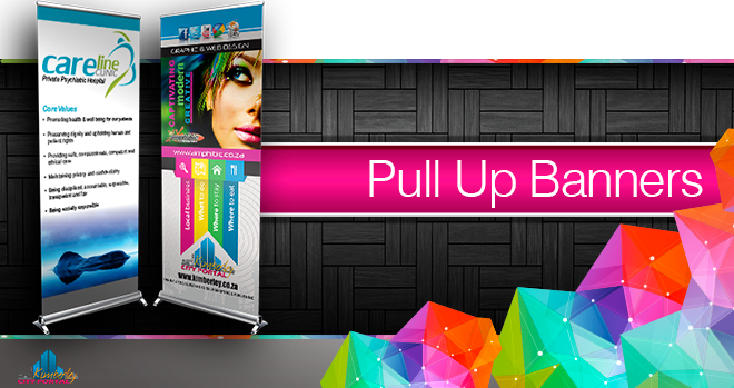 Printing of Pull Up Banners at NTLO Signs in Kimberley