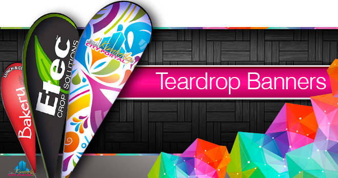 Printing of Tear drop Banners at NTLO Signs in Kimberley