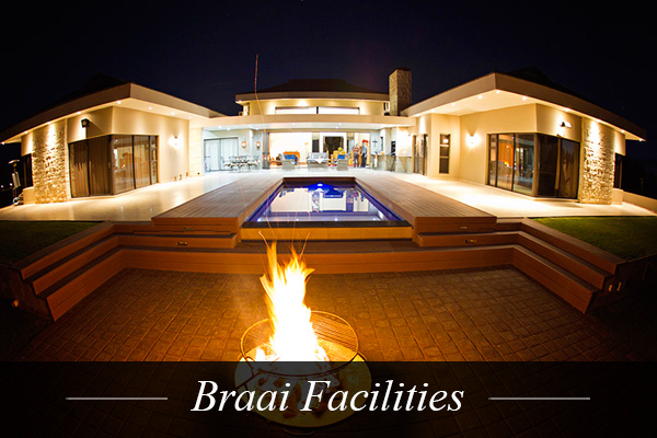 Braai Facilities at Swanlake Luxury Accommodation at Magersfontein Memorial Golf Estate near Kimberley, Northern Cape