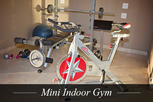 Mini Indoor Gym at Swanlake Luxury Accommodation at Magersfontein Memorial Golf Estate near Kimberley, Northern Cape