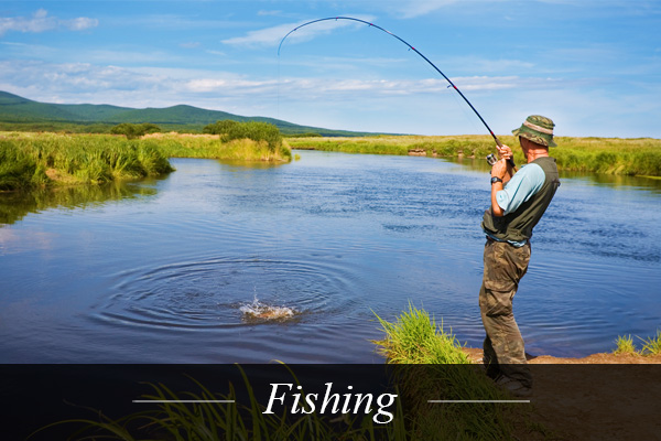 Fishing near Swanlake Luxury Accommodation at Magersfontein Memorial Golf Estate near Kimberley in Northern Cape