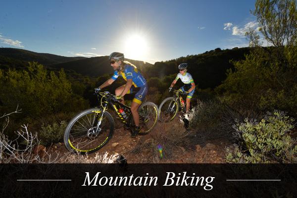 Mountaing Biking near Swanlake Luxury Accommodation at Magersfontein Memorial Golf Estate near Kimberley, Northern Cape