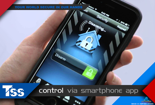 TSS Top Security Systems Kimberley: Services - Controlling your alarm system via an APP on your smartphone