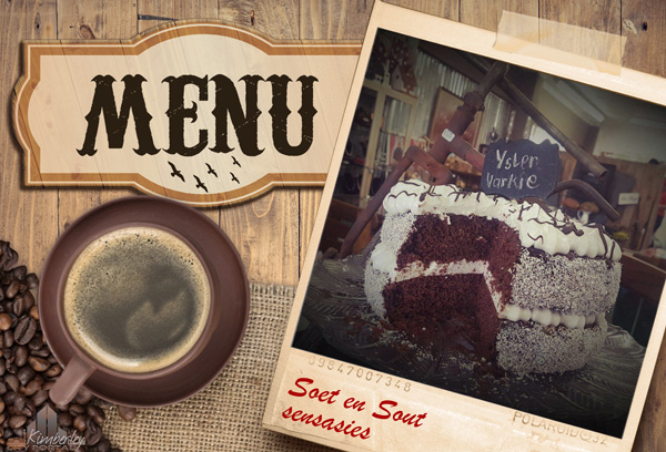 FT MENU: Toeka tot Nou Kimberley - Coffee Shop, Antique Shop, Gift Shop
