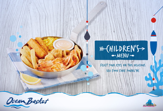 Something for the little onces on our kiddies menu at Ocean Basket Kimberley