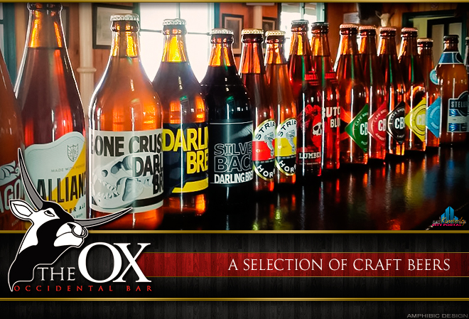 Good Craft Beer at Occidental Bar - The OX at the Big Hole in Kimberley