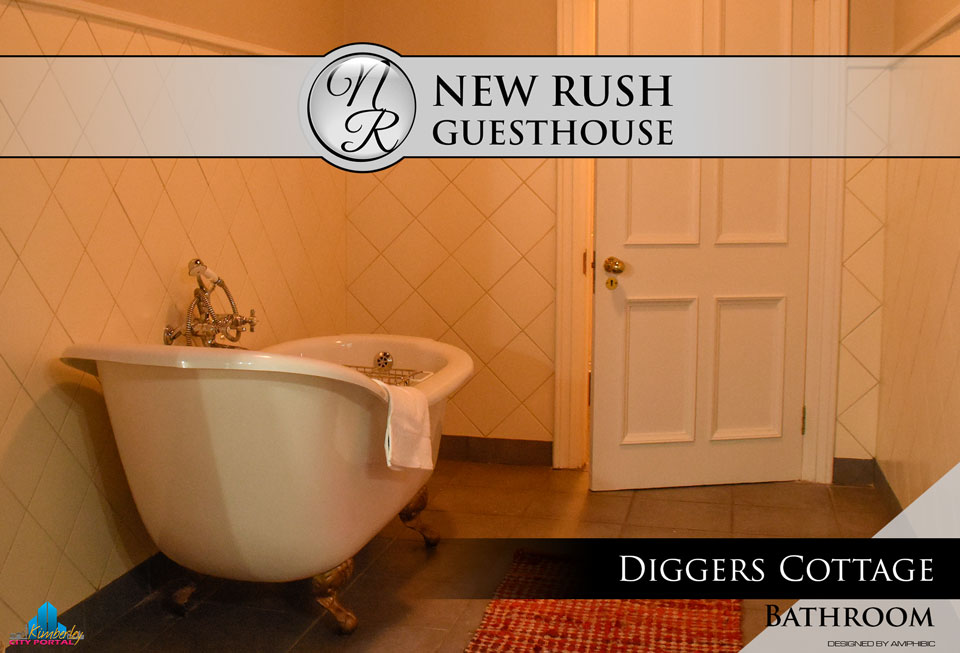 Diggers Cottage - Bathroom: New Rush Guesthouse, Kimberley Big Hole Complex