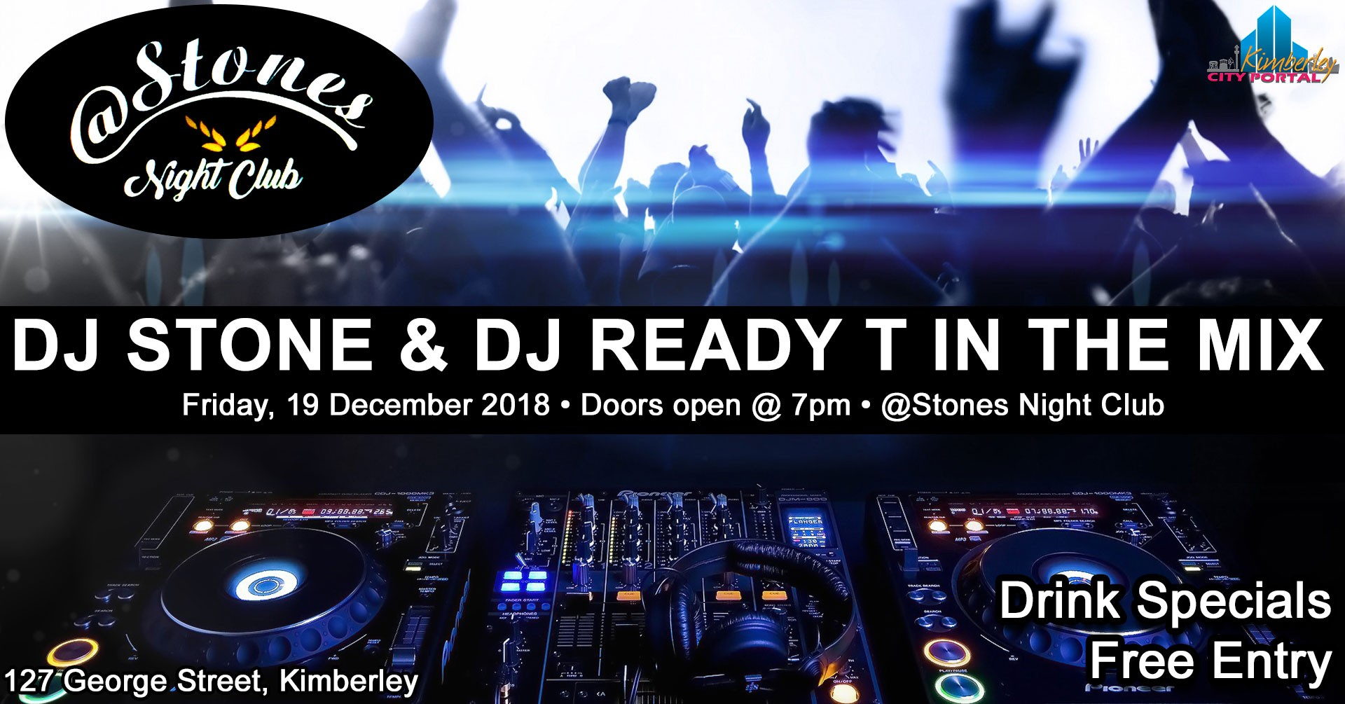 DJ Stone & DJ Ready T in the mix @ Stones Night Club