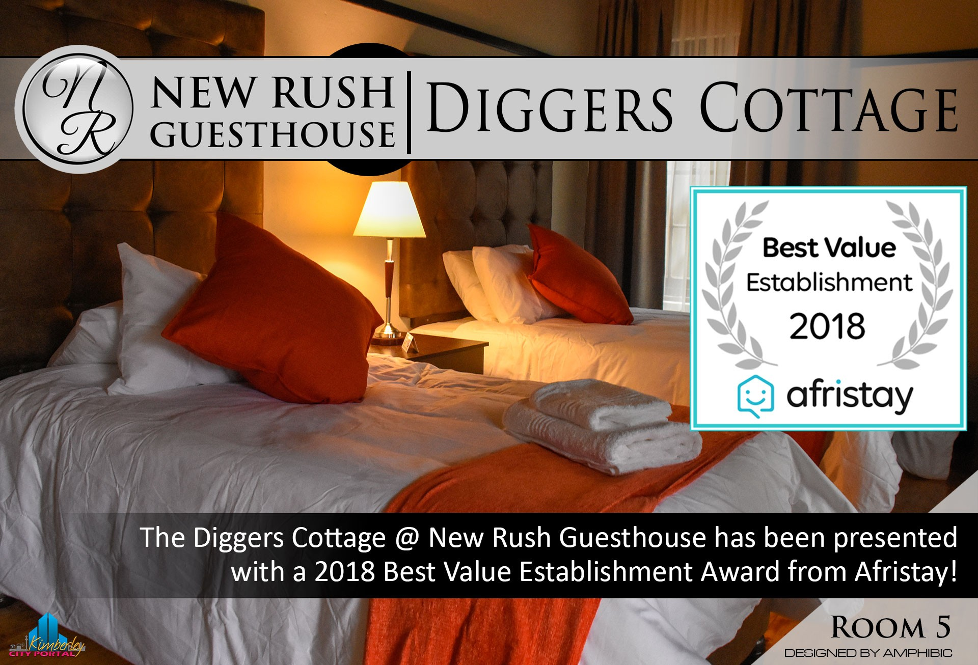 Diggers Cottage - Room 5: New Rush Guesthouse, Kimberley Big Hole Complex
