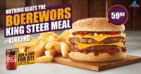 Boerewors King Steer Meal @ Steers