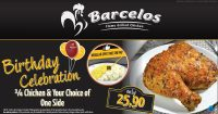 Birthday Celebration Special @ Barcelos