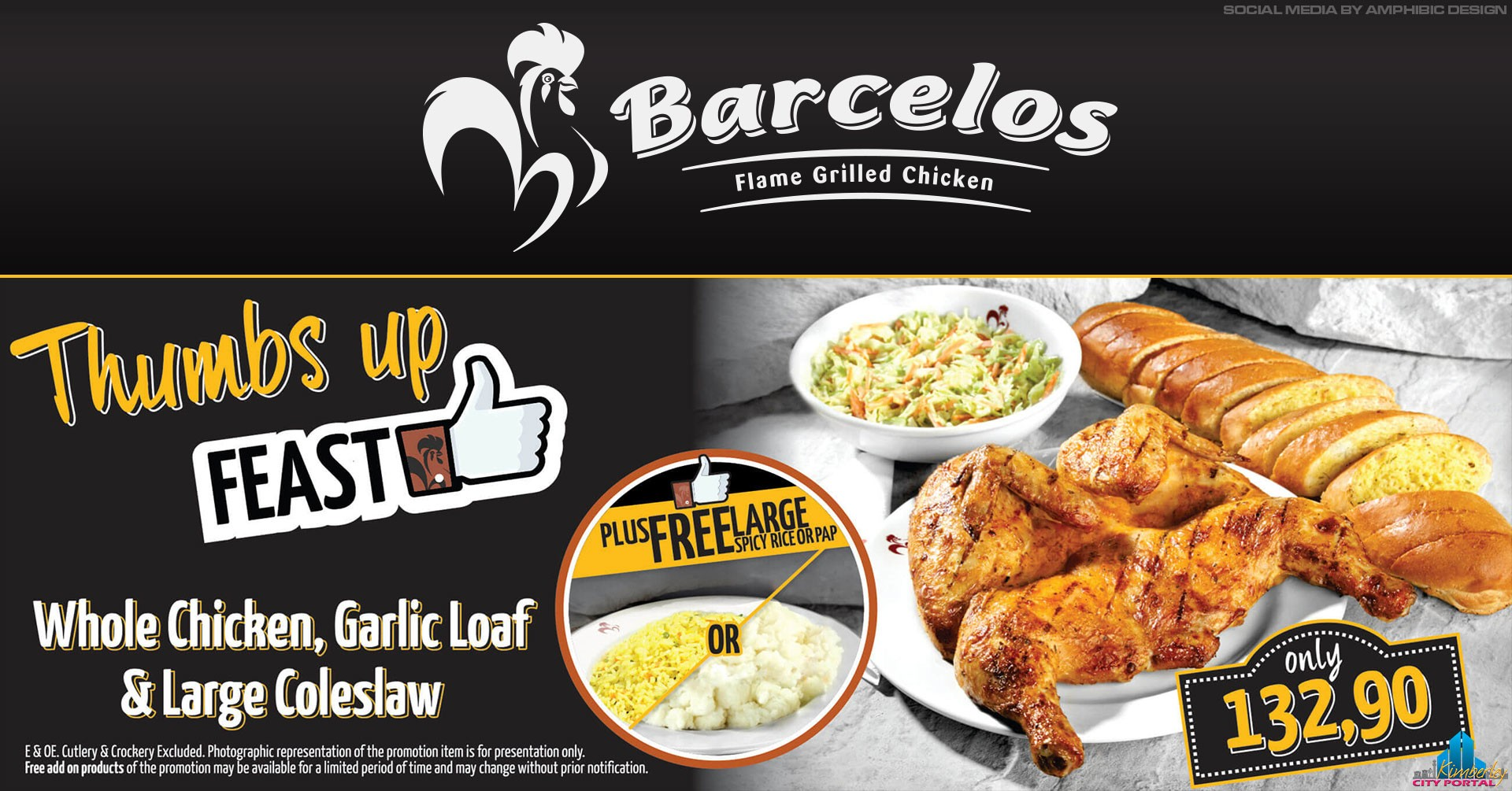 Barcelos December Thumbs Up Special in Kimberley