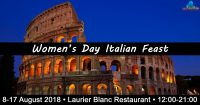 Women's Day Italian Feast @ The Laurier Blanc Restaurant