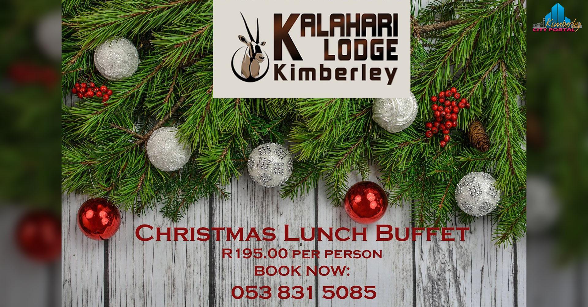Eating Christmas In The Kalahari.Christmas Lunch Buffet Kalahari Lodge Kimberley Portal