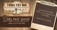Daily Meal Special @ Toeka tot Nou