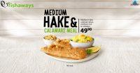 Medium Hake & Calamari Meal @ Fishaways