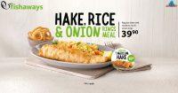 Hake, Rice & Onion Rings Meal @ Fishaways