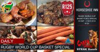 Rugby World Cup Basket Special @ The Crazy Horse Steak Ranch – Horseshoe Inn