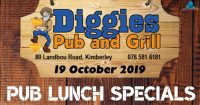 Pub Lunch Saturday Special @ Diggies