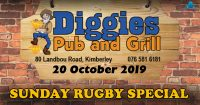 Sunday Rugby Special @ Diggies