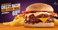 Cheesy Bacon King Steer Meal @ Steers