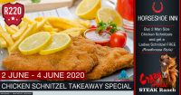 Chicken Schnitzel Takeaway Special @ The Crazy Horse Steak Ranch