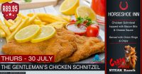 The Gentleman's Chicken Schnitzel Special @ The Crazy Horse Steak Ranch